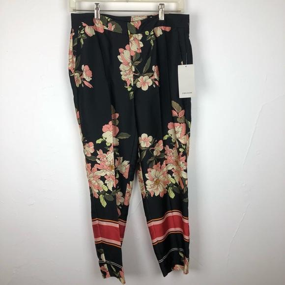 992aa5d8 Zara Pants | Basic Collection Floral Ankle Sz Small | Poshmark